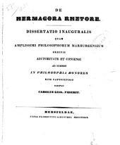 De Hermagora rhetore