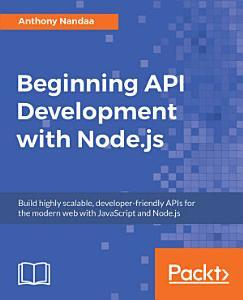 Beginning API Development with Node js PDF