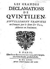 Les grandes déclamations de Quintillien