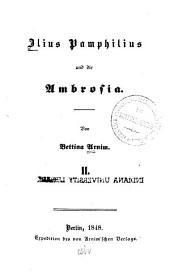 Ilius Pamphilius und die Ambrosia: Band 1