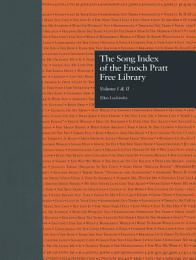 The Song Index of the Enoch Pratt Free Library