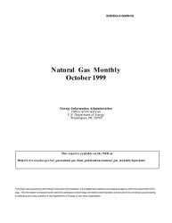 Natural Gas Monthly October 1999 Book PDF