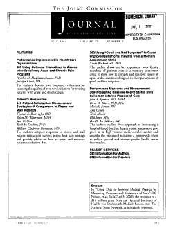 The Joint Commission Journal on Quality Improvement PDF