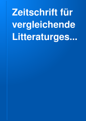 Zeitschrift für vergleichende Litteraturgeschichte