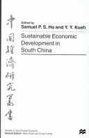 Sustainable Economic Development in South China PDF