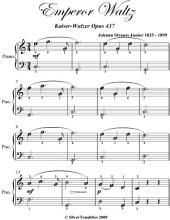 Emperor Waltz Kaiser Walzer Opus 437 Easiest Piano Sheet Music
