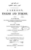 A Lexicon  English and Turkish PDF