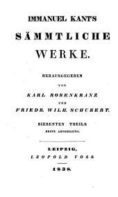 Immanuel Kant's Sämmtliche Werke: Th., 2. Abth. Anthropologie in pragmatischer Hinsicht