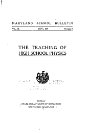 The Teaching of High School Physics