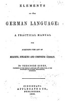 Elements of the German Language PDF