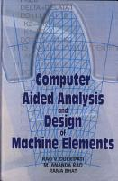 Computer Aided Analysis and Design of Machine Elements PDF