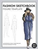 Female Fashion Sketchbook Figure Template