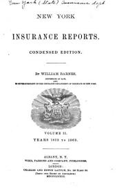 New York Insurance Reports: Volume 2