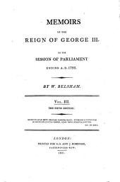 Memoir of the reign of George III: to the session of Parliament ending A