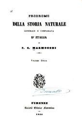 Prodromo della storia naturale generale e comparata d'Italia ...