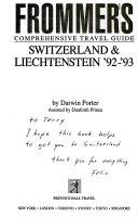 Frommer s Comprehensive Travel Guide  Switzerland   Liechtenstein  92  93 PDF
