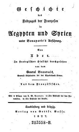 Geschichte des Feldzuges der Franzosen in Aegypten und Syrien unter Bonaparte s Anf  hrung PDF