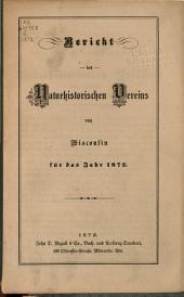 Jahresbericht des naturhistorischen Vereins von Wisconsin: 1872