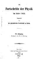 Die Fortschritte der Physik im Jahre     Dargestellt von der physikalischen Gesellschaft zu Berlin PDF