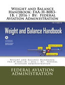 Weight and Balance Handbook