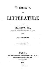 Éléments de littérature: Volume2