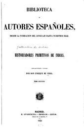 Historiadores primitivos de Indias: Volumen 2;Volumen 26
