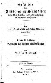 Geschichte der Poesie und Beredsamkeit seit dem Ende des dreizehnten Jahrhunderts: Germany