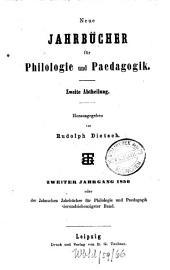 Neue Jahrbücher für Philologie und Pädagogik: Band 74
