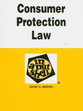 Consumer Protection Law in a Nutshell, 3d: Edition 3