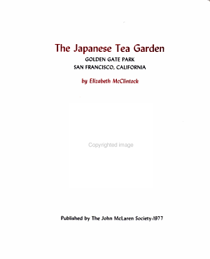The Japanese Tea Garden  Golden Gate Park