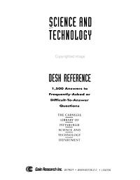 Science and Technology Desk Reference PDF