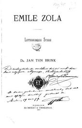 Emile Zola: letterkundige studie