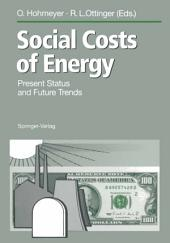 Social Costs of Energy: Present Status and Future Trends