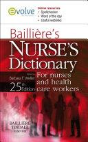 Bailliere's Nurses' Dictionary E-Book