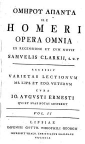 Omērou apanta, h.e. Homeri opera omnia: Ilias