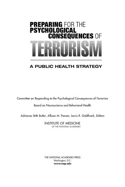 Download Preparing for the Psychological Consequences of Terrorism Book