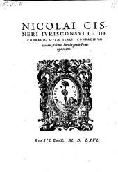De Conrado, quem Itali Conradinum vocant ; oratio