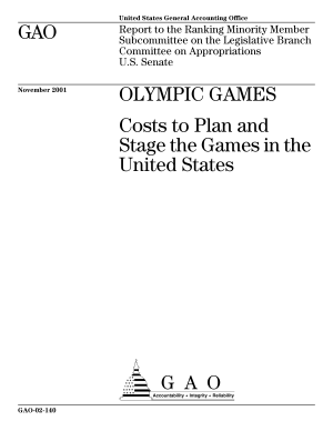 Olympic games costs to plan and stage the games in the United States.