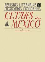 Letras de M  xico I  enero de 1937  diciembre de 1938 PDF