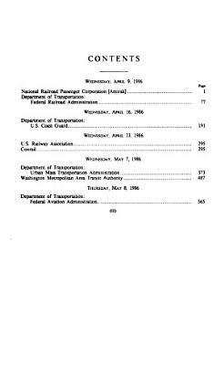 Department of Transportation and Related Agencies Appropriations for Fiscal Year 1987  Consolidated Rail Corporation  Conrail  PDF