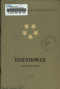 Eisenhower on War and Peace