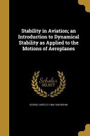 STABILITY IN AVIATION AN INTRO