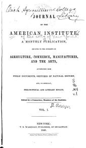 Journal of the American Institute: Volume 1