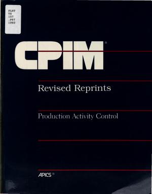 Production Activity Control Reprints PDF