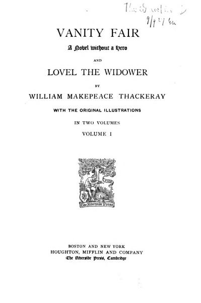 Download The Complete Works of William Makepeace Thackeray  Vanity fair Book