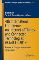 4th International Conference on Internet of Things and Connected Technologies  ICIoTCT   2019 PDF