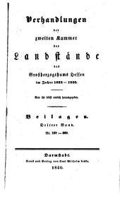 Verhandlungen der Zweiten Kammer der Landstände des Großherzogthums Hessen