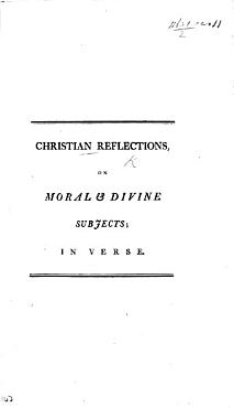 Christian Reflections on Moral   Divine Subjects  in verse PDF