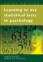 Learning to Use Statistical Tests in Psychology PDF