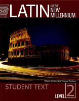 Latin for the New Millennium  Level 2  student text PDF